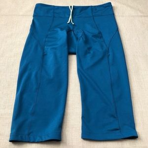 Athleta Teal Spin Knicker Padded Cycling Crops
